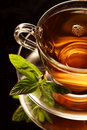 Tea and Mint Royalty Free Stock Photography