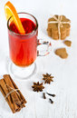 Tea with orange Stock Photography