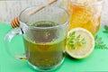 Tea with parsley, lemon and honey Royalty Free Stock Photo