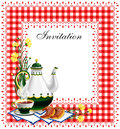 Tea party invitation Royalty Free Stock Images
