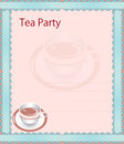 Tea party invitation with place for your text Royalty Free Stock Image