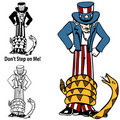 Tea Party Rattlesnake Uncle Sam Royalty Free Stock Photo