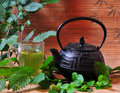 Tea pot hot drink Royalty Free Stock Photo
