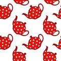 Tea pot pattern red abstract seamless texture art illustration image contains transparency Royalty Free Stock Photography