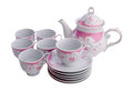 Tea pot set, Porcelain tea pot and cup Royalty Free Stock Photo
