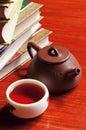 Tea pot and  teacup Royalty Free Stock Photo