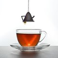 Tea is poured Stock Image