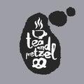 Tea And Pretzel in a Speech Bubble