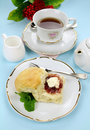 Tea And Scones Stock Images