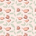 Tea Seamless Pattern Royalty Free Stock Images