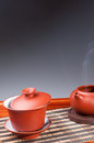 Tea set chinese traditional culture of the Royalty Free Stock Image