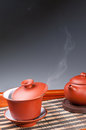 Tea set chinese traditional culture of the Stock Image