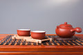 Tea set chinese traditional culture of the Royalty Free Stock Photo