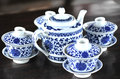 Tea set at table Royalty Free Stock Photos