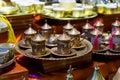 Tea sets in Grand Bazaar Royalty Free Stock Photo