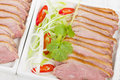 Tea smoked duck vietnamese style green breast Stock Image