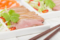 Tea smoked duck vietnamese style green breast Royalty Free Stock Image