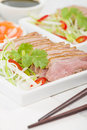 Tea smoked duck vietnamese style green breast Stock Photos