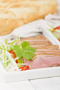 Tea smoked duck vietnamese style green breast Stock Photo