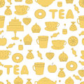 Tea,sweets seamless pattern