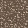 Tea and sweets vector seamless pattern this is file of eps format Stock Photo