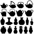 Tea Teapot Wine Bottle Oriental Design Royalty Free Stock Photo