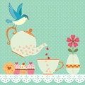Tea time cup of with love copy space for your text vector contains transparent objects eps Royalty Free Stock Photo