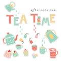 Tea Time Doodle Illustration P...
