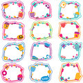 Tea time frames clip art set Royalty Free Stock Photo