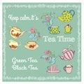 Tea Time Illustration.