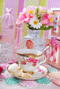 Tea time in romantic style Royalty Free Stock Photo