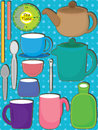 Tea Time Set_eps Stock Image