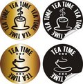 Tea time stamp Royalty Free Stock Photo