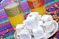 Tea and turkish delight Stock Photography