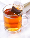 Teabag in the cup Royalty Free Stock Photography