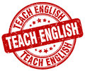 Teach english red stamp
