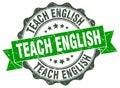 Teach english stamp