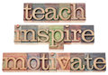 Teach, inspire, motivate Royalty Free Stock Image