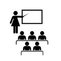 Teacher and audience vector icon Royalty Free Stock Photo