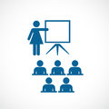 Teacher and class room vector icon Royalty Free Stock Photo