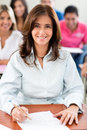 Teacher in a classroom Royalty Free Stock Image