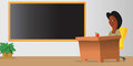 Teacher classroom chalkboard Royalty Free Stock Images