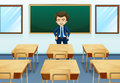 A teacher inside the room illustration of Stock Image