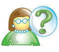 Teacher question icon Royalty Free Stock Photo