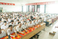 Teacher s day in recognition of activities approaching baixiang county board education organized baixiang county hebei Stock Photography