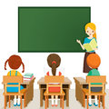 Teacher Teaching Students In Classroom Royalty Free Stock Photo