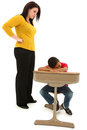 Teacher Upset At Sleeping African American Student Royalty Free Stock Photo