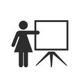 Teacher vector icon Royalty Free Stock Photo
