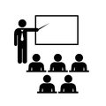 Teacher vector icon with pointer Royalty Free Stock Photo