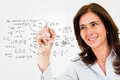 Teacher wiriting formulas Royalty Free Stock Photo